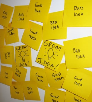Idea Management with Post Its