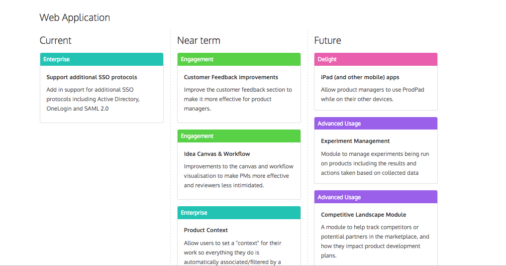 A public version of our product roadmap