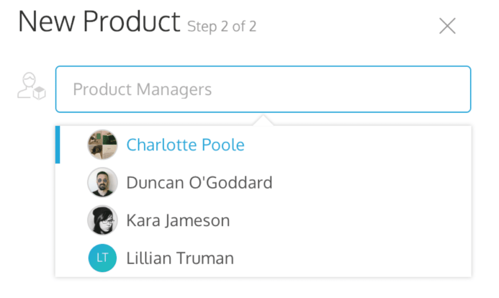 The attributes panel with multiple product managers.