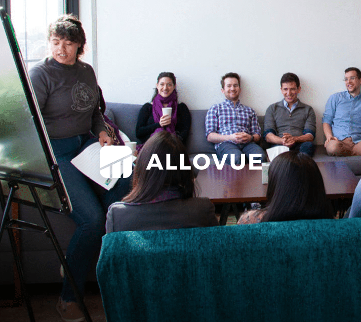 Allovue's product team working on their product management process